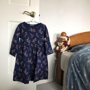 navy flower dress !!
